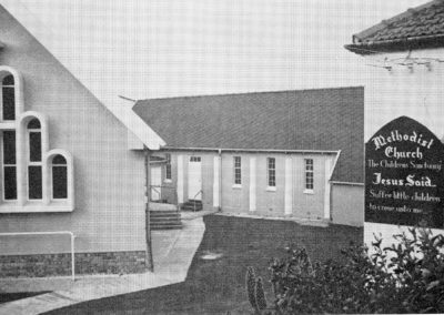 Church and original chapel and house next door for SS
